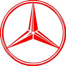 Red mercedes benz icon - Free red car logo icons