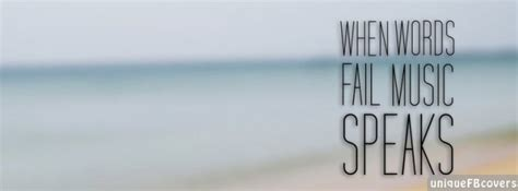 Music Speaks Facebook Covers | Quotes Covers Fb Cover